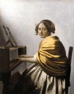 Johannes Vermeer, Young woman seated at a virginal, 1670s, USA, private collection