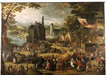 Circle of David Vinckboon, The great Kermis, 1st quarter of the 17th century. Szeczin, Muzeum Narodowe in Szczecin