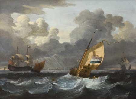 Wigerus Vitringa, Yacht in a stiff breeze