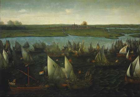 Hendrick Vroom, Battle of the Haarlemmermeer in 1571, ca. 1621. Amsterdam, Rijksmuseum