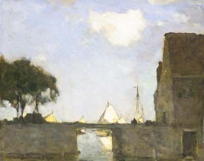 Jan Weissenbruch, Te Noorden bij Nieuwkoop, 1901. Dordrecht, Dordrechts Museum
