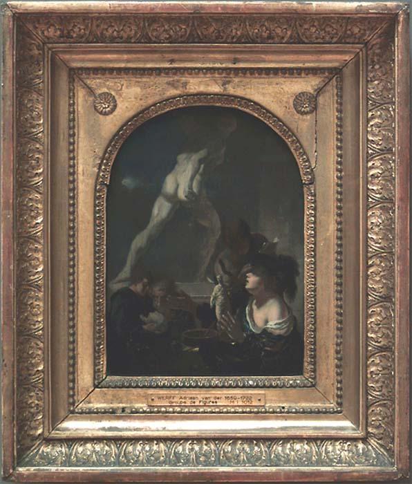 Adriaen van der Werff, The sculptor's studio, 1680s. Paris, Musée du Louvre