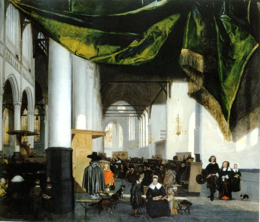 Emanuel de Witte (1617-1692), Interior of the Oude Kerk in Amsterdam. ca. 1653 Cape Town, Michaelis Collection