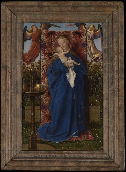Jan van Eyck (1390-1441), Madonna at the Fountain, 1439, Royal Museum of Fine Arts Antwerp