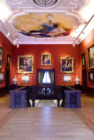 Seventeenth-century trophy frames in the Mauritshuis.