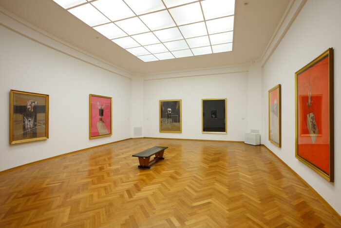 One of the exhibition spaces in the Gemeentemuseum, The Hague.