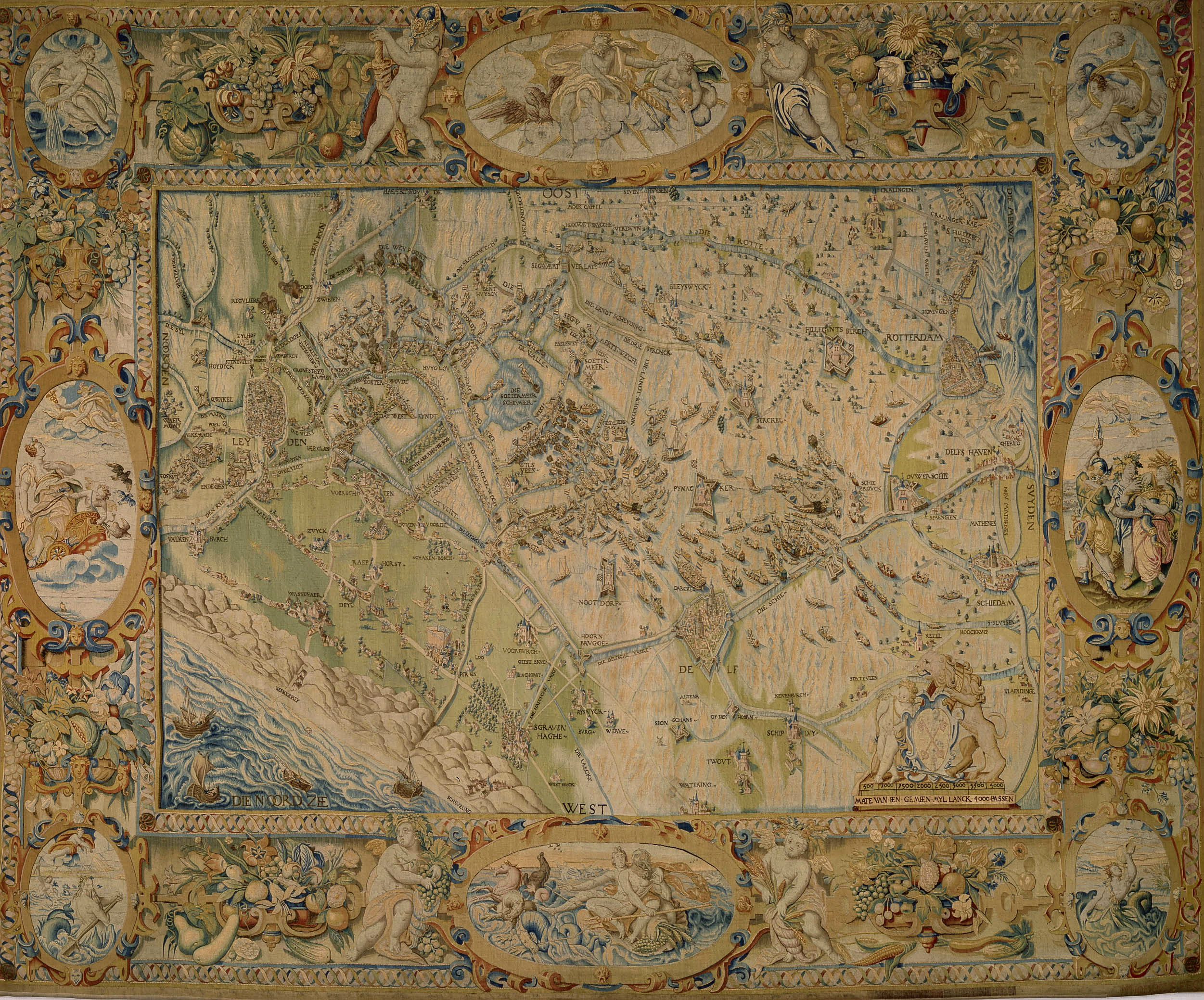 Fig. 3 Joost Jansz Lanckaert, Tapestry depicting the relief of Leiden, 1587-89Museum De Lakenhal, Leiden, inv. no. 3358