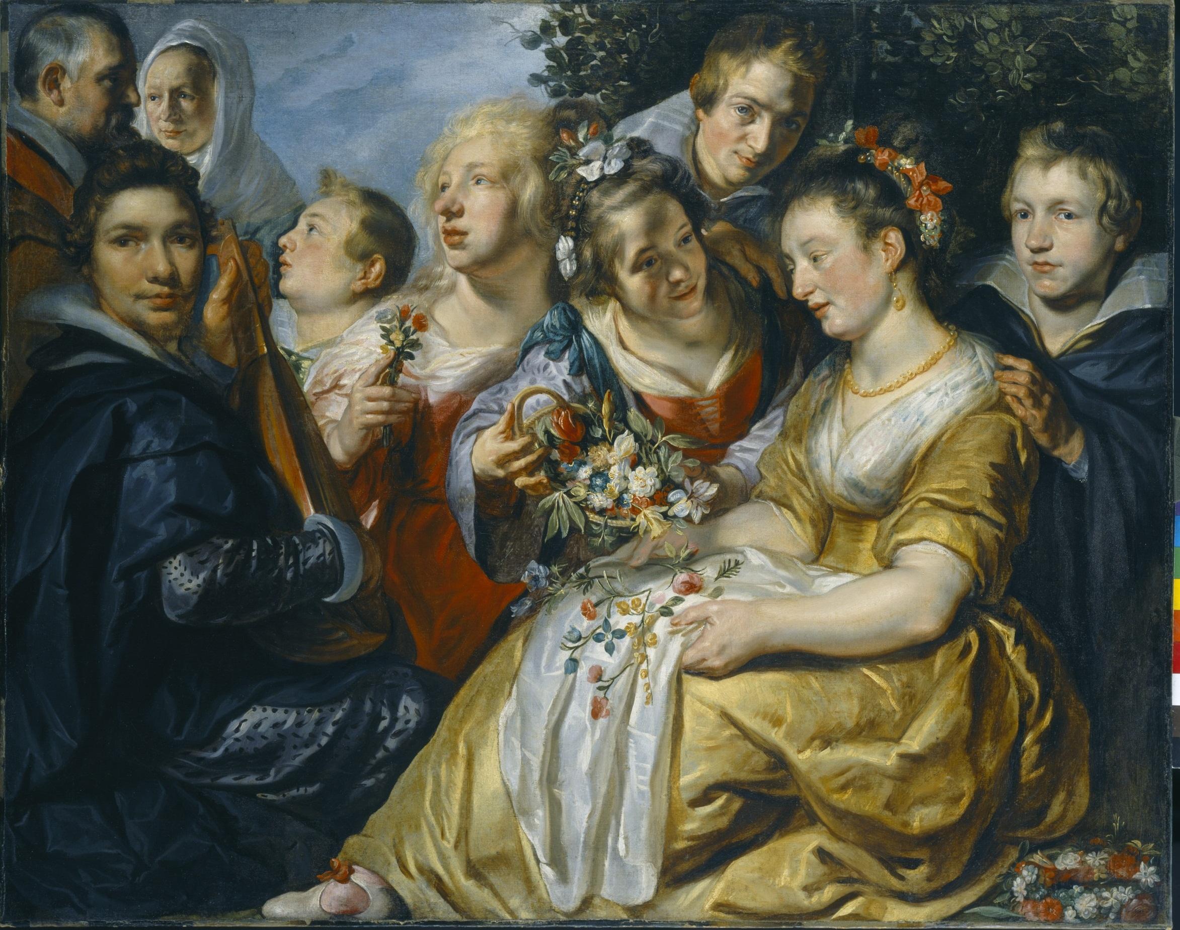 Jacob Jordaens (1593-1678), Self Portrait with the Family of Adam van Noort, ca. 1615-16, Staatliche Gemäldegalerie, Kassel© Museumlandschaft Hessen Kassel