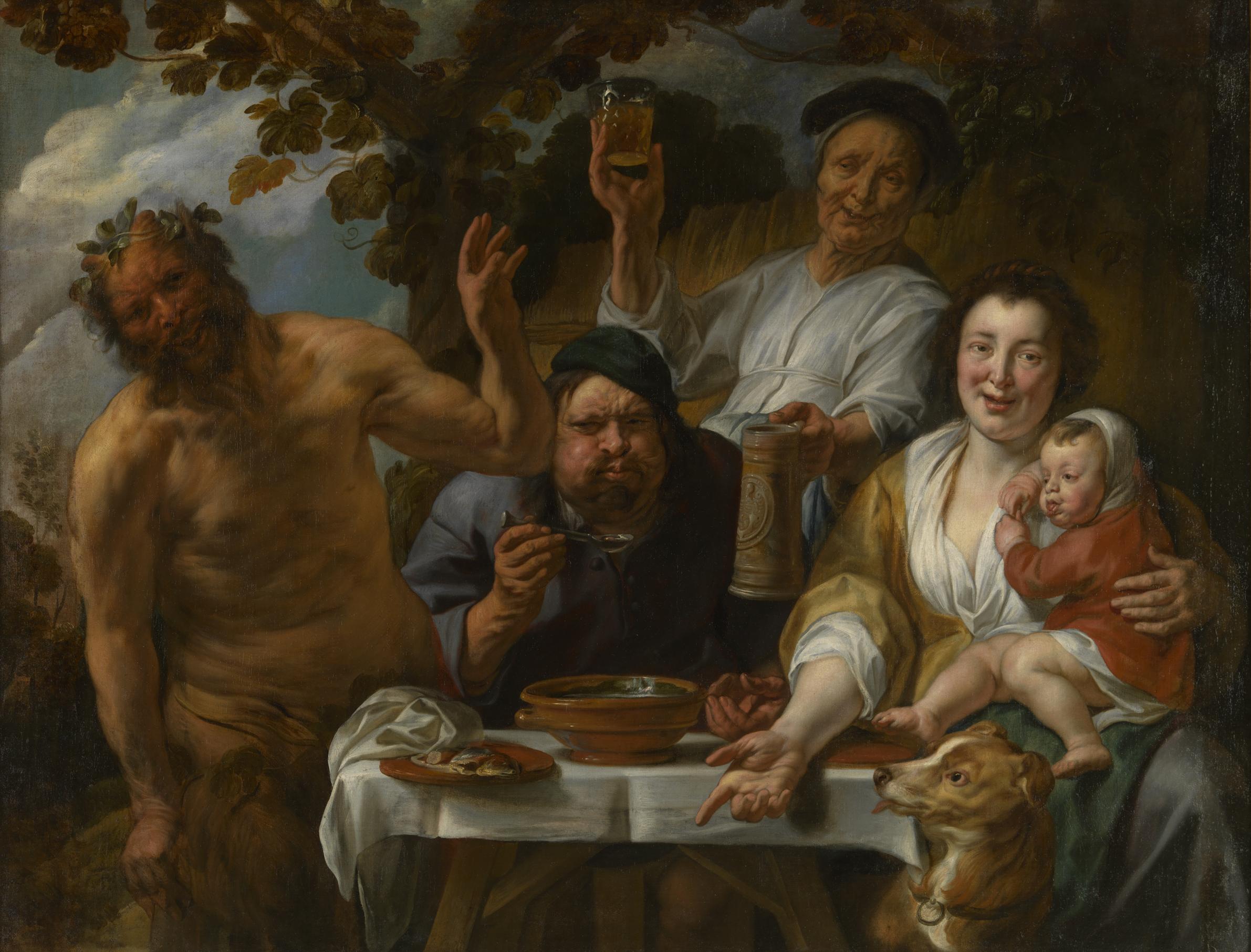 Jacob Jordaens (1593-1678), Satyr and Peasant, ca. 1640-45, Royal Museums of Fine Arts of Belgium, BrusselsPhoto: J. Geleyns / www.roscan.be / © KMSKB – MRBAB