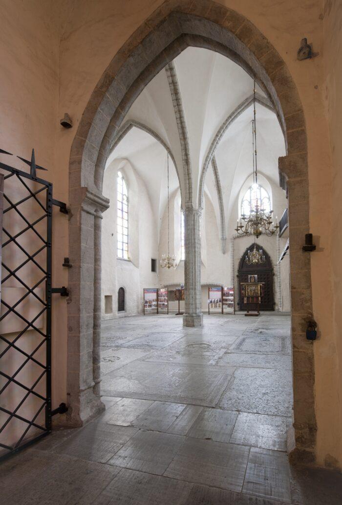 Interior of St Anthony's Chapel, Niguliste Museum, Art Museum of Estonia