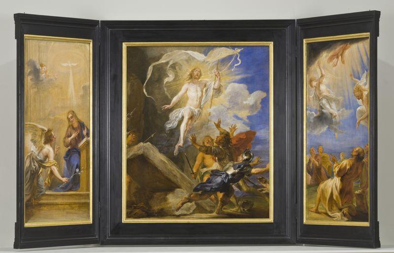 Jan Boeckhorst (1604-1668), <em>Snyders Triptych</em>, ca. 1659<br>Los Angeles County Museum of Art, Los Angeles © LACMA