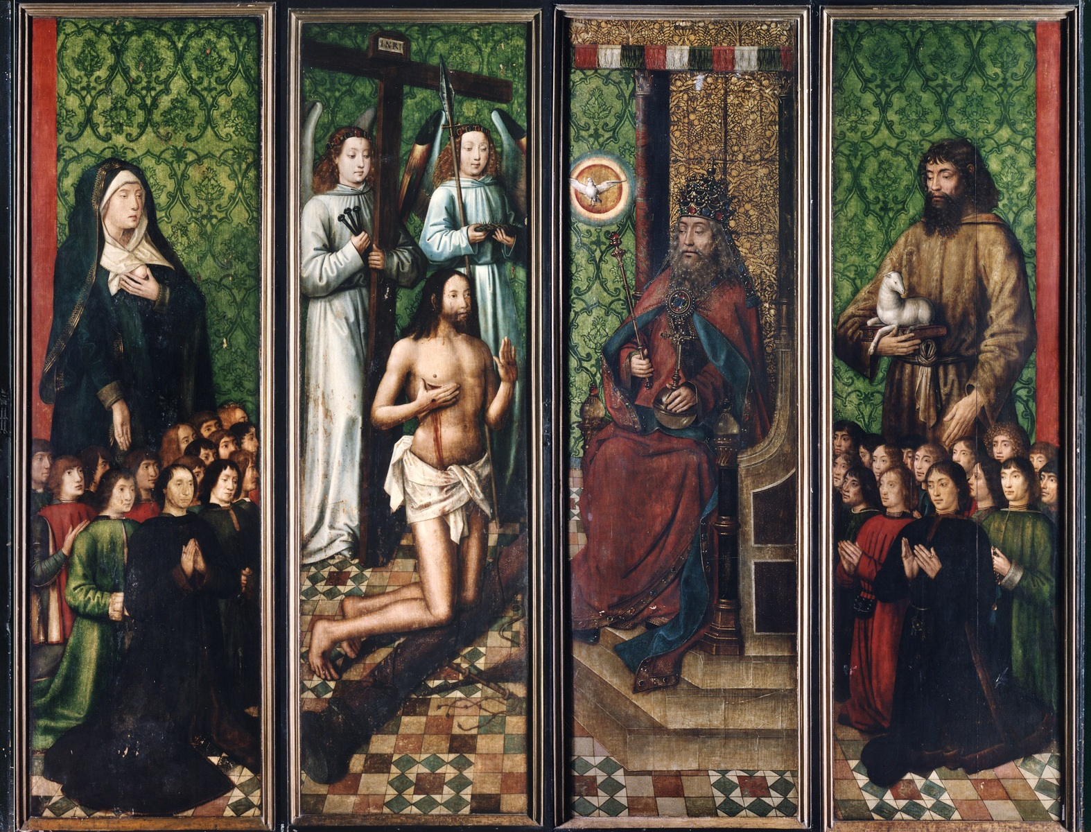 Bruges Master of the Saint Lucy Legend (1430/1440-1506/1509), <em>The Altarpiece of the Virgin Mary of the Brotherhood of the Black Heads</em>, before 1493<br>Second view of the altarpiece, Art Museum of Estonia