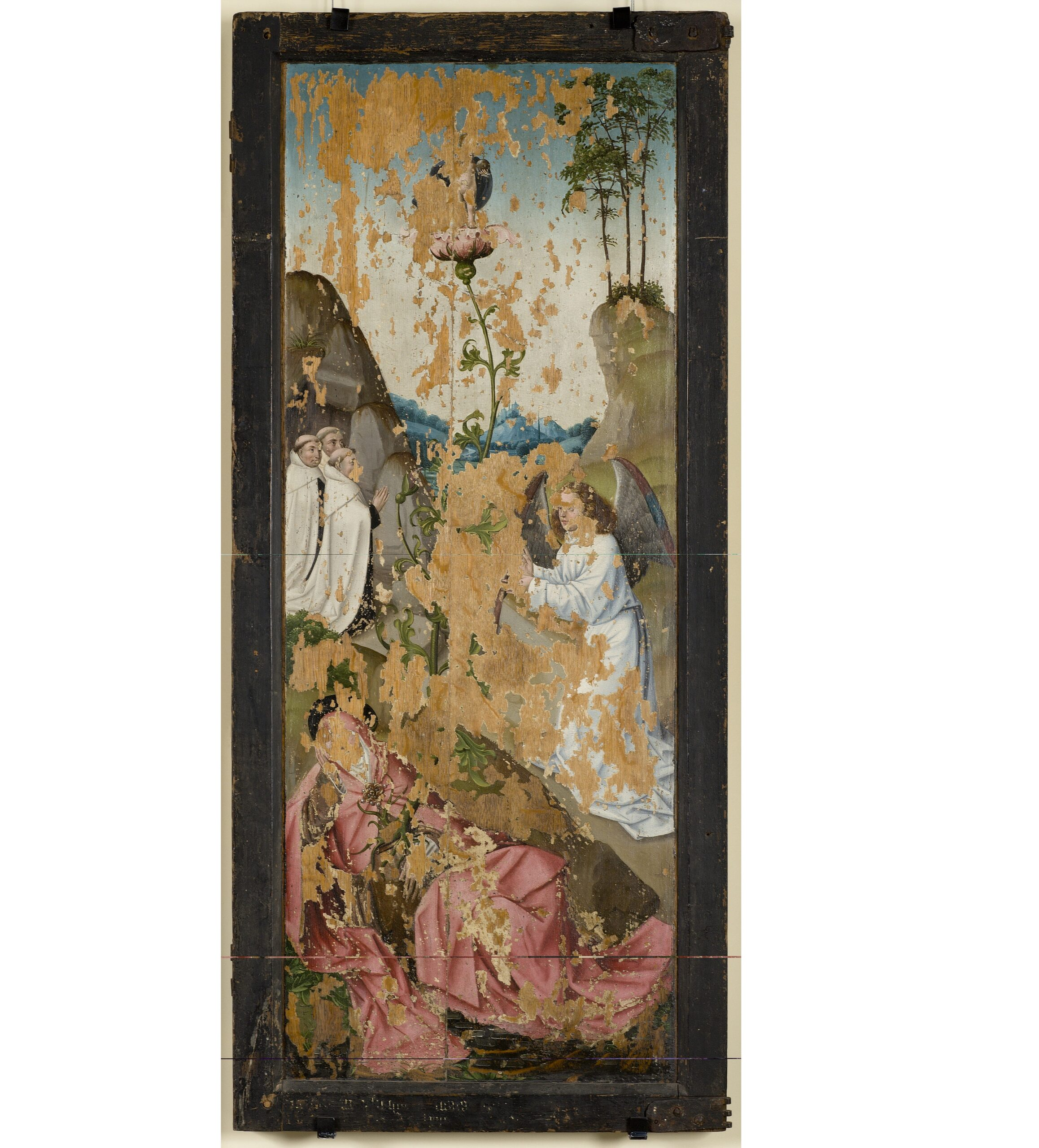 Brussels workshop, The Holy Kinship Altarpiece (Emerentia's Vision on Mount Carmel), ca. 1500 Art Museum of Estonia