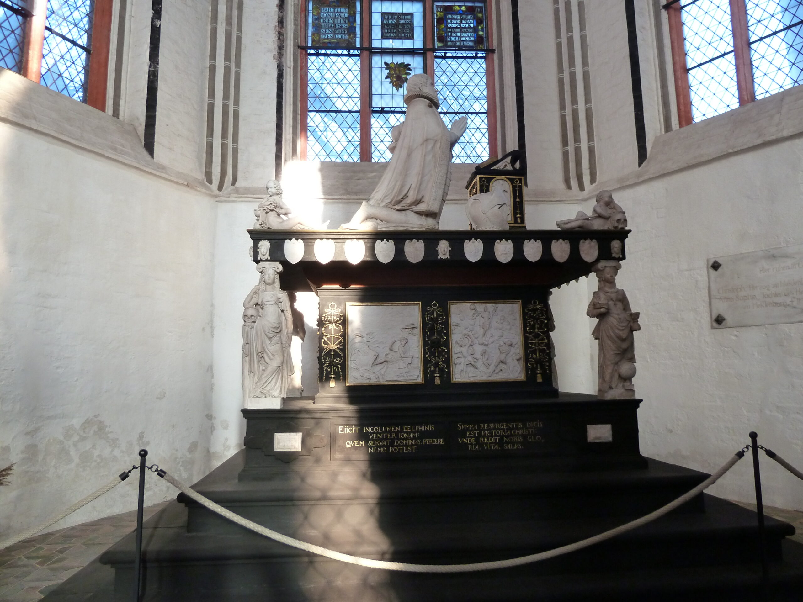 Robert Coppens, Tomb of Christopher of Mecklenburg-Gadebusch and his Wife, Elisabeth Vasa of Sweden, erected between 1594 and 1596, Schwerin Cathedral (Germany)
