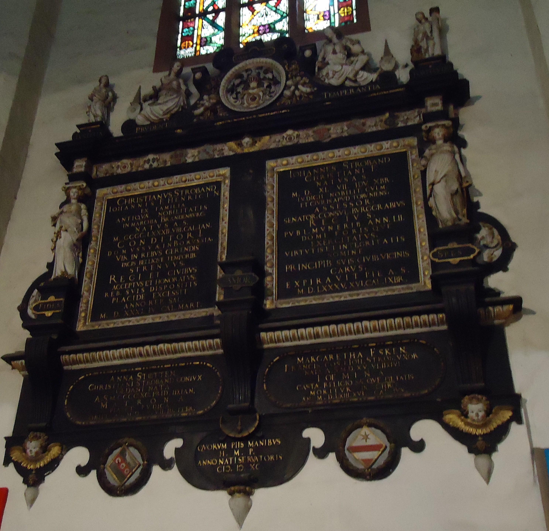 Willem van den Bloocke (1546/47-1628), <em>Epitaph for Eduard Blemke,</em> 1591 St. Mary's Church, Gdańsk (Poland)