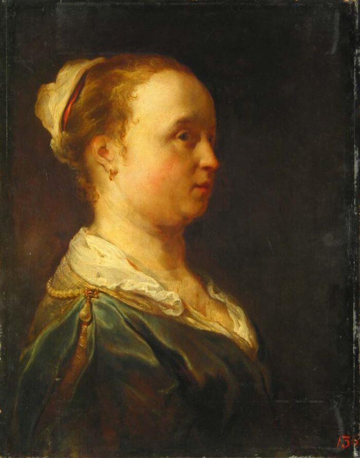 Jan van Noordt (1623-1676/86), <em>Head of a young woman in profile</em><br>State Hermitage Museum, St. Petersburg