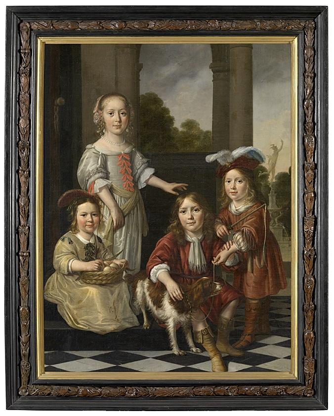 Nicolaes Maes (1634-1693), <em>Portrait of four children</em>, 1657<br>Groeningemuseum, Musea Brugge © Lukas - Art in Flanders vzw, photo Hugo Maertens