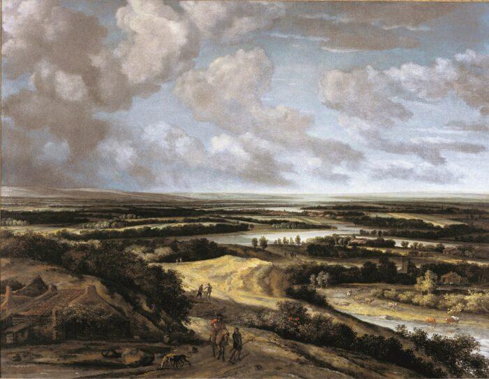 Philips Koninck (1619-1688), <em>Panoramic River Landscape with Hunters</em>, c. 1664 Gift of Alfred and Isabel Bader The Agnes Etherington Art Centre, Kingston