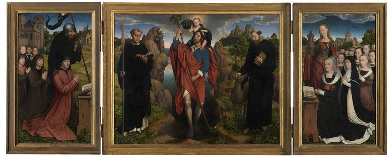 Hans Memling (1430-1494), <em>Moreel Triptych</em>, 1484<br>Groeningemuseum, Musea Brugge © Lukas - Art in Flanders vzw, photo Hugo Maertens