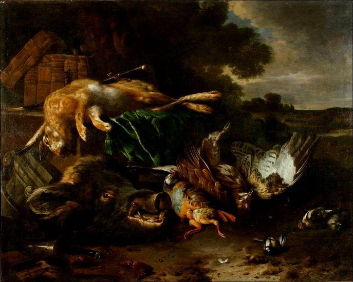Jan Weenix (1642–1719), Hunting trophiesOMSK M.A. Vrubel Museum, Omsk, Russia