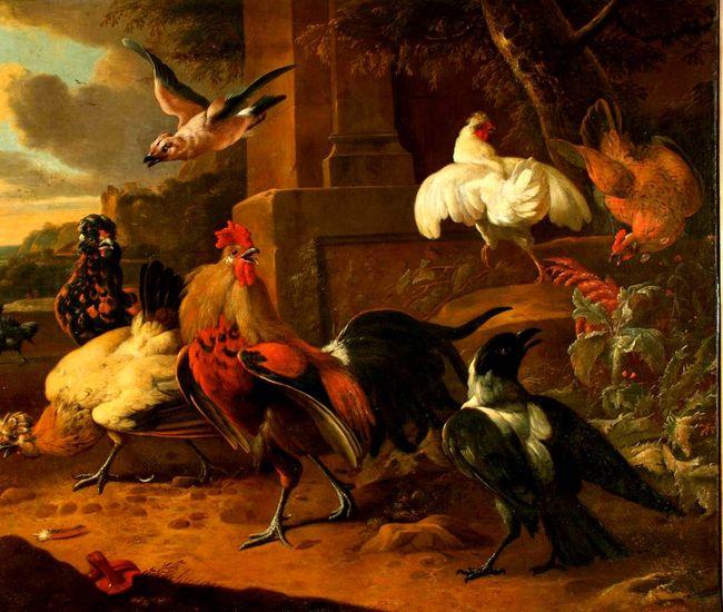 Copy after Melchior d'Hondecoeter (1636-95), <em>The Poultry Yard</em><br>OMSK M.A. Vrubel Museum, Omsk, Russia