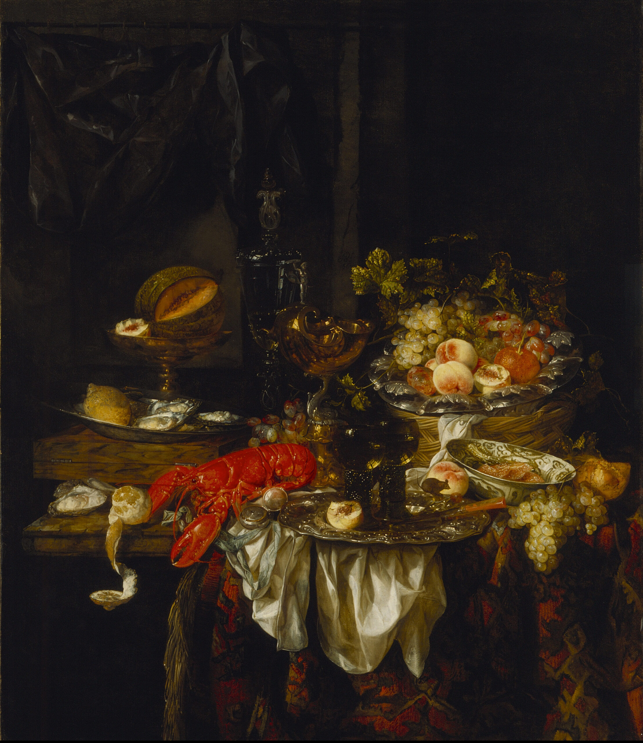 Abraham van Beyeren (1620/21-1691), <em>Banquet Still Life</em>, 1667<br>LACMA, Los Angeless