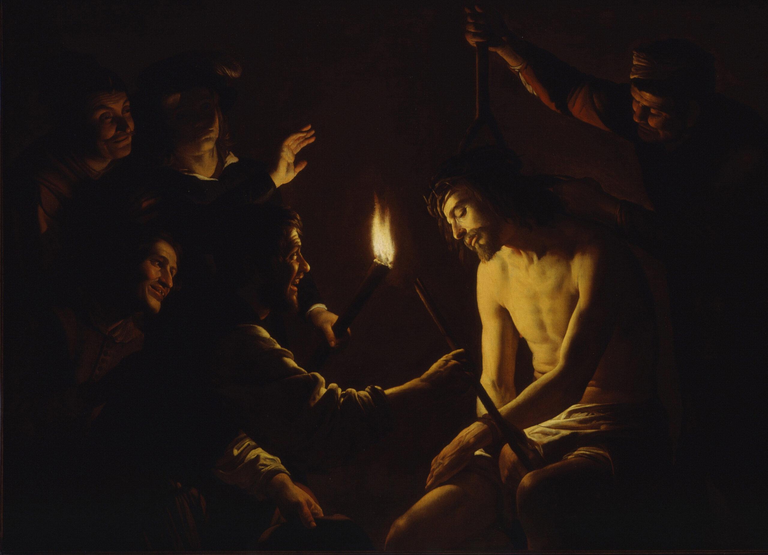 Gerard van Honthorst (1590-1656), <em>The Mocking of Christ</em>, ca. 1617-20<br>LACMA, Los Angeles