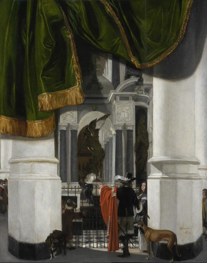 Emanuel de Witte (ca. 1617-1692), <em>Interior of the Nieuwe Kerk in Delft with the Tomb of William the Silent</em>, 1653 LACMA, Los Angeles