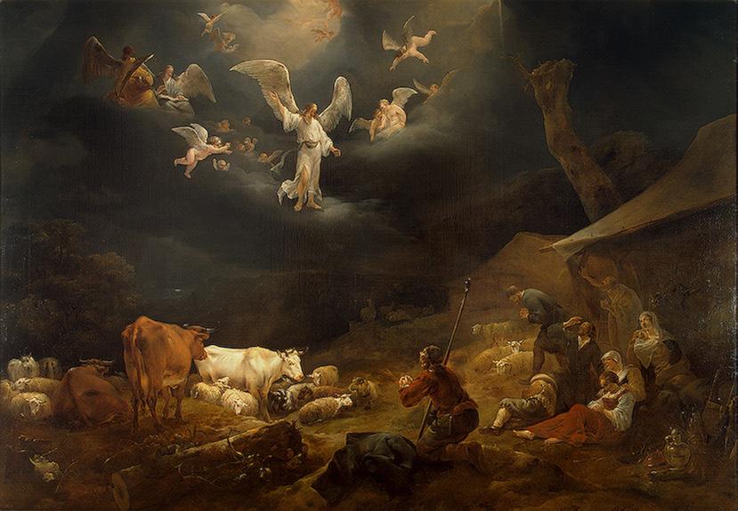 Nicolaes Berchem (1621-1683), <em>Annunciation to the Shepherds</em>, 1649<br>State Hermitage Museum, St. Petersburg