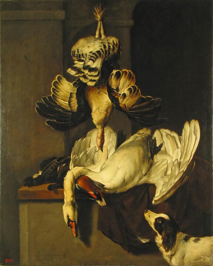 Jan Weenix (1641-1719), <em>Hunting Trophies</em>, ca. 1700<br>State Hermitage Museum, St. Petersburg