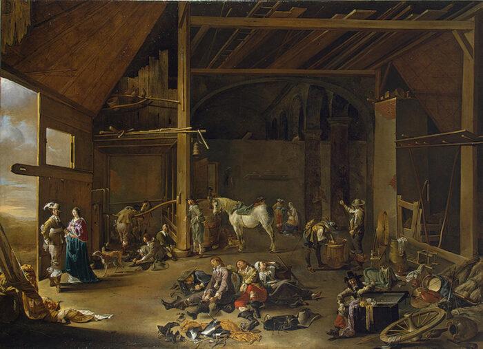 Jacob Duck (1600-1667), <em>Soldiers' Rest</em>. ca. 1650<br>State Hermitage Museum, St. Petersburg