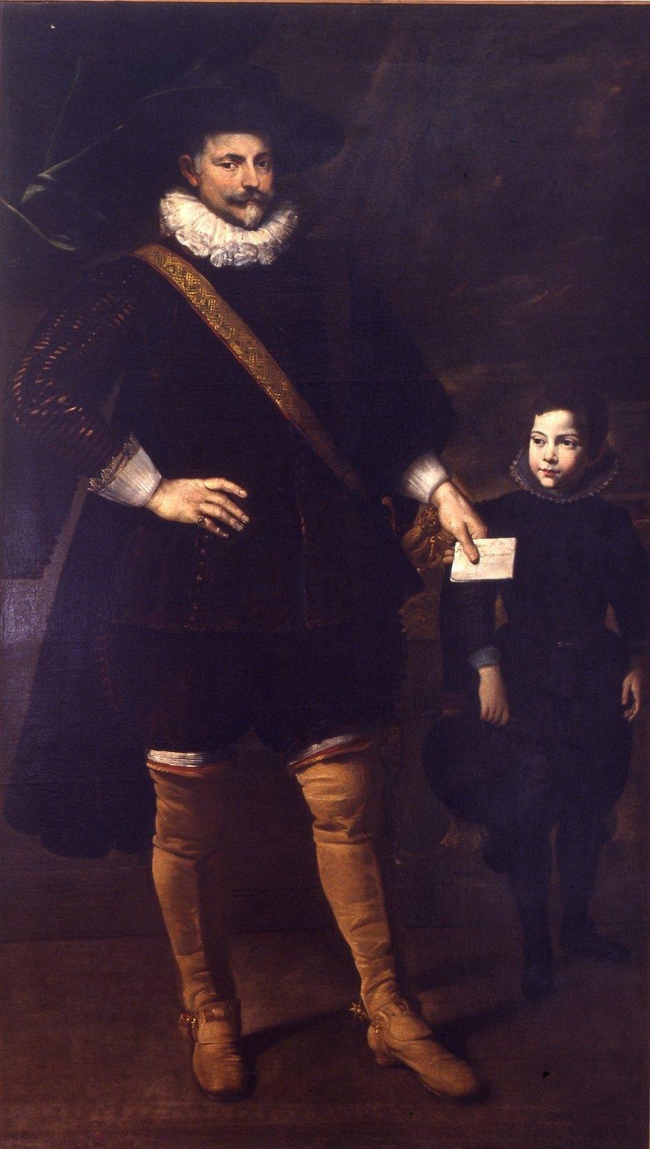Domenico Fiasella (1589-1669), Portrait of Agostino and Ansaldo Pallavicino. Galleria Nazionale di Palazzo Spinola, Genoa