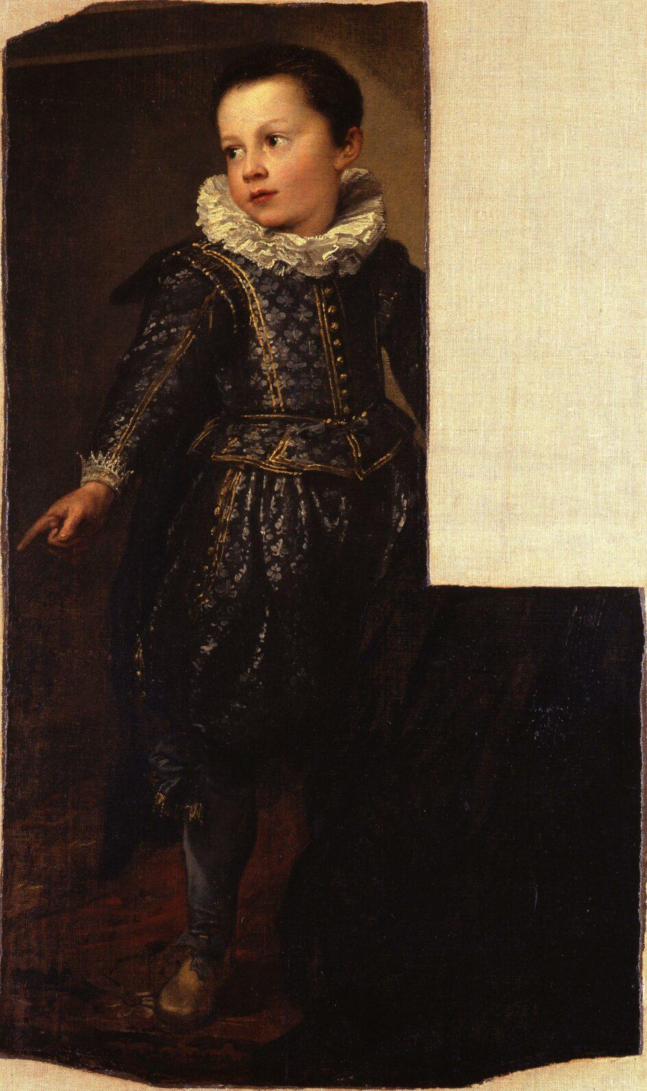 Anthony van Dyck (1599-1641), Portrait of Ansaldo Pallavicino (fragment), Galleria Nazionale di Palazzo Spinola, Genoa