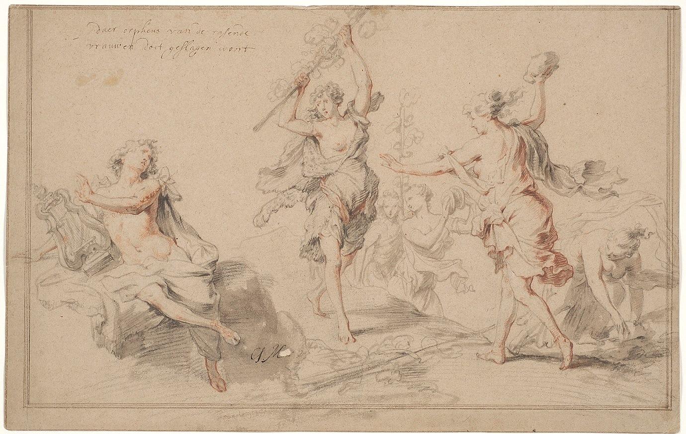 Godfried Maes (1649-1700), <em>Orpheus and the Bacchantes</em><br>Kadriorg Art Museum, Talinn