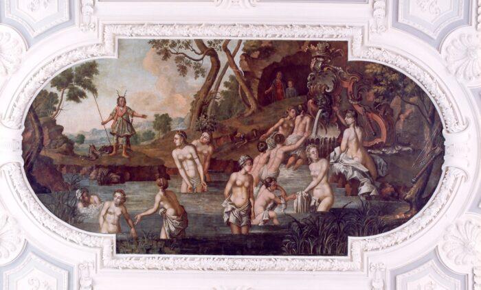 Londicer the Younger after Magdalena van de Passe after Rembrandt, <em>Diana and Actaeon</em>, 1746<br>Kadriorg Art Museum, Talinn