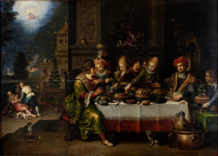 Frans II Francken (1581-1642), <em>Parable of the rich and the poor Lazarus</em>, Ekaterinburg Museum of Fine Art