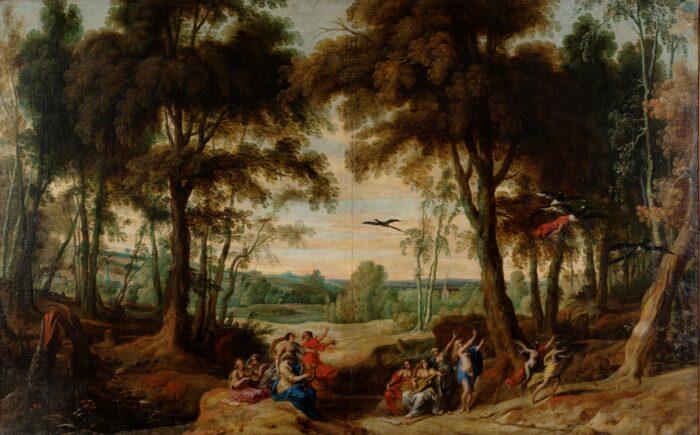 Jan Wildens (1584/86-1653), <em>The Transformation of Women into Magpies</em>, Ekaterinburg Museum of Fine Arts