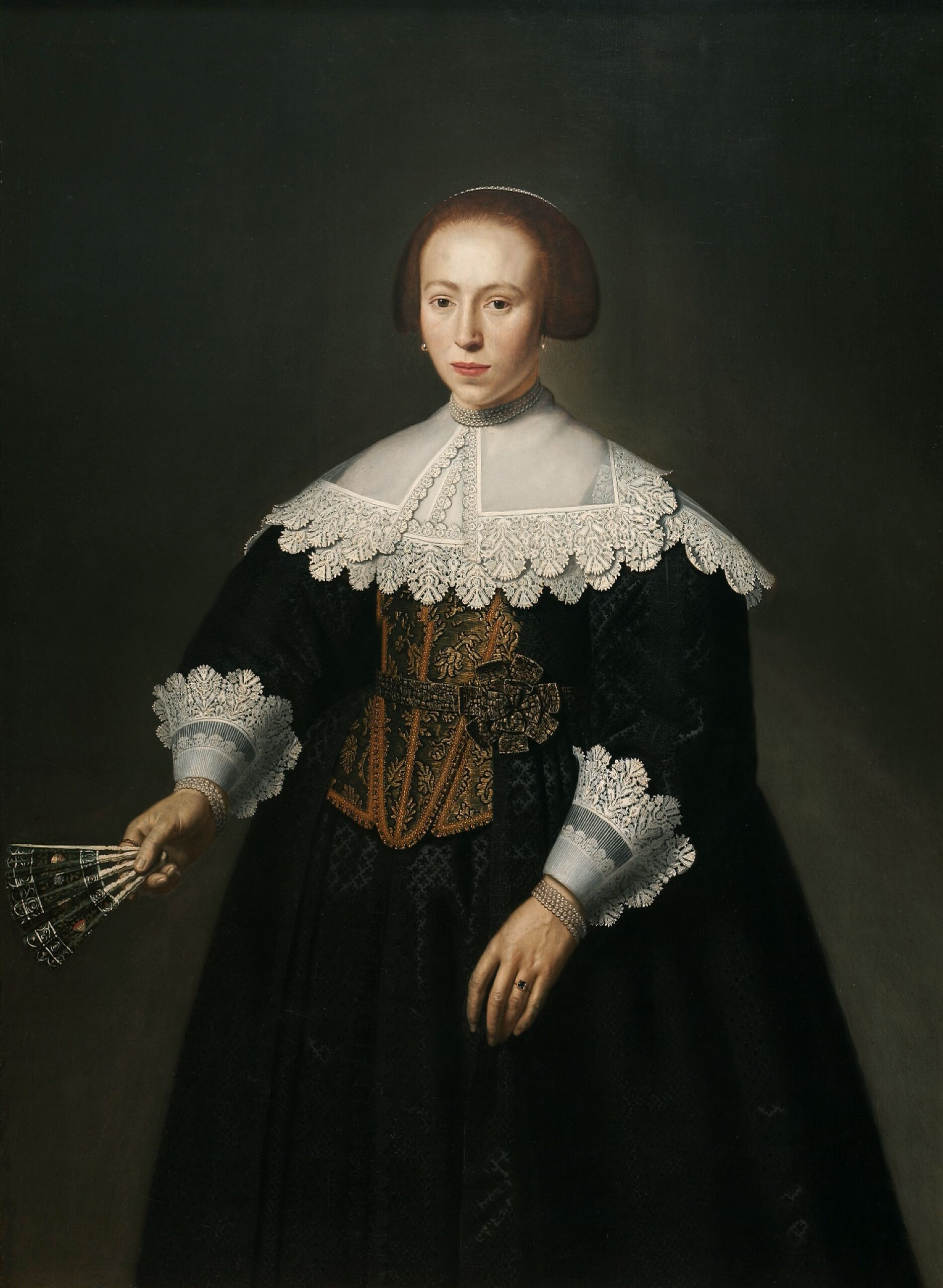 Dirck Santvoort (1609-1680), Portrait of a lady, 1637 Auckland Art Gallery Toi o T ̄amaki, Auckland (gift of P.A.N. Nathan, 1963)
