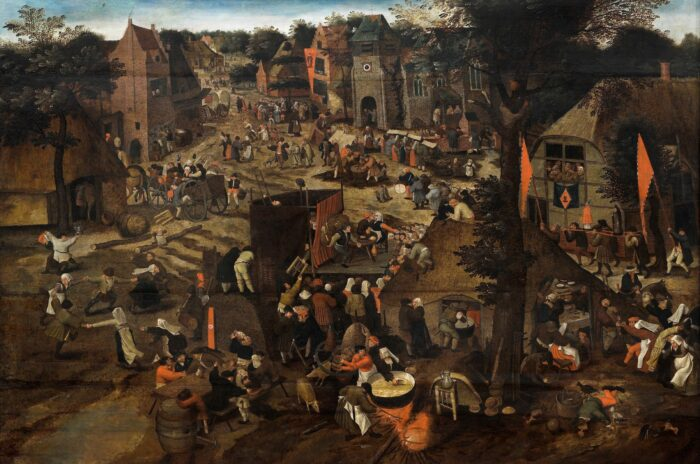 Pieter Brueghel the Younger (1564-1638), A Village fair (Village festival in honour of Saint Hubert and Saint Anthony), Auckland Art Gallery Toi o Tāmaki (purchased 1961)