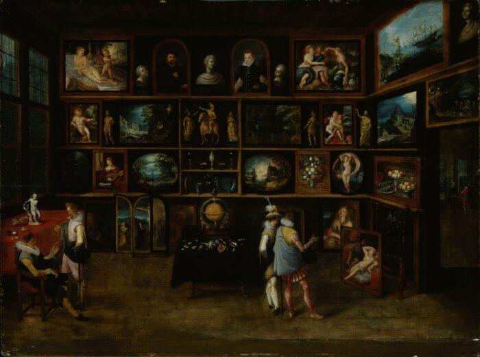 Hieronymus Francken II (1578-1623), <em>Connoisseurs at a Gallery</em><br>Sinebrychoff Art Museum, Helsinki