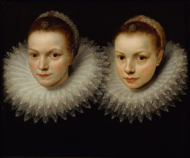 Unknown Flemish artist, <em>Two sisters </em>, ca. 1610-1615<br>Sinebrychoff Art Museum, Helsinki