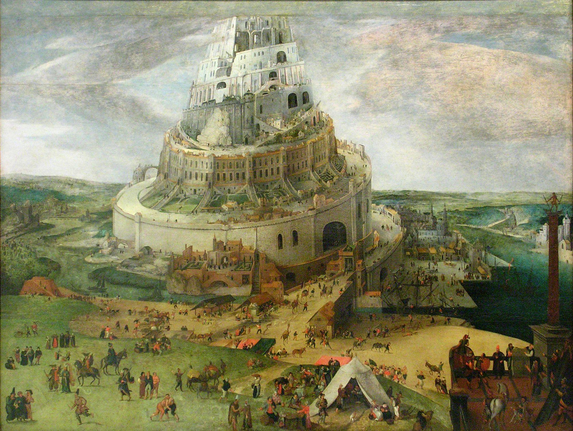 Circle of Jacob Grimmer (1526-1589), Tower of Babel, Museo Nacional de Bellas Artes de Cuba