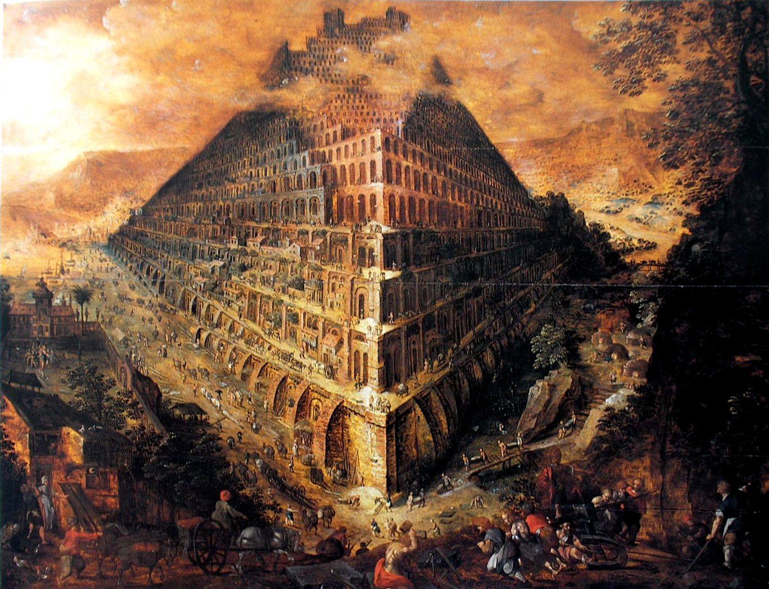School of Marten van Valckenborgh, The tower of Babel, Museo Nacional de Bellas Artes de Cuba