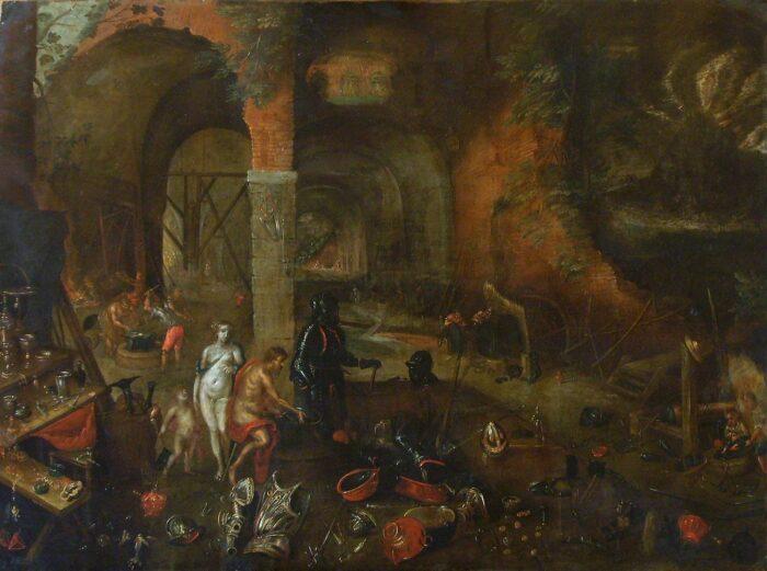 School of Jan II Brueghel, <em>Fire</em> (from the <em>Four elements </em>series) Museo Nacional de Bellas Artes de Cuba