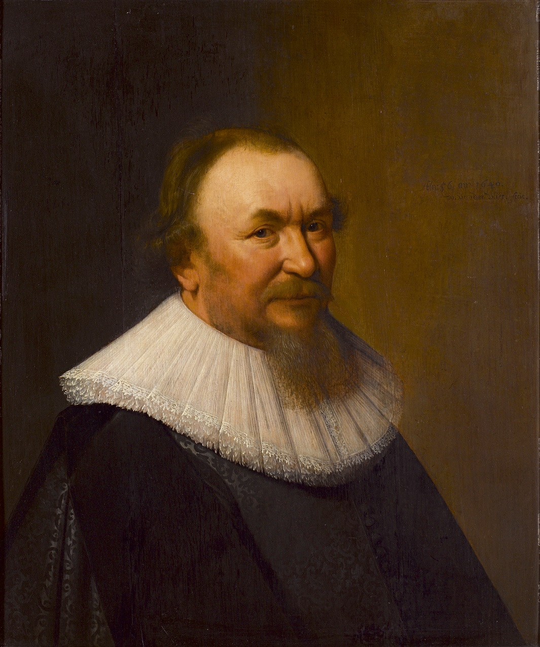 Fig. 10. Willem van der Vliet (1584-1642), <em>Portrait of Pieter Jacobsz Pauw</em>, 1640<br>Acquired with support from the Rembrandt Association (with assistance from the BankGiro Lottery Acquisition Fund), the VSBfonds and a private benefactor<br> Stedelijk Museum Alkmaar