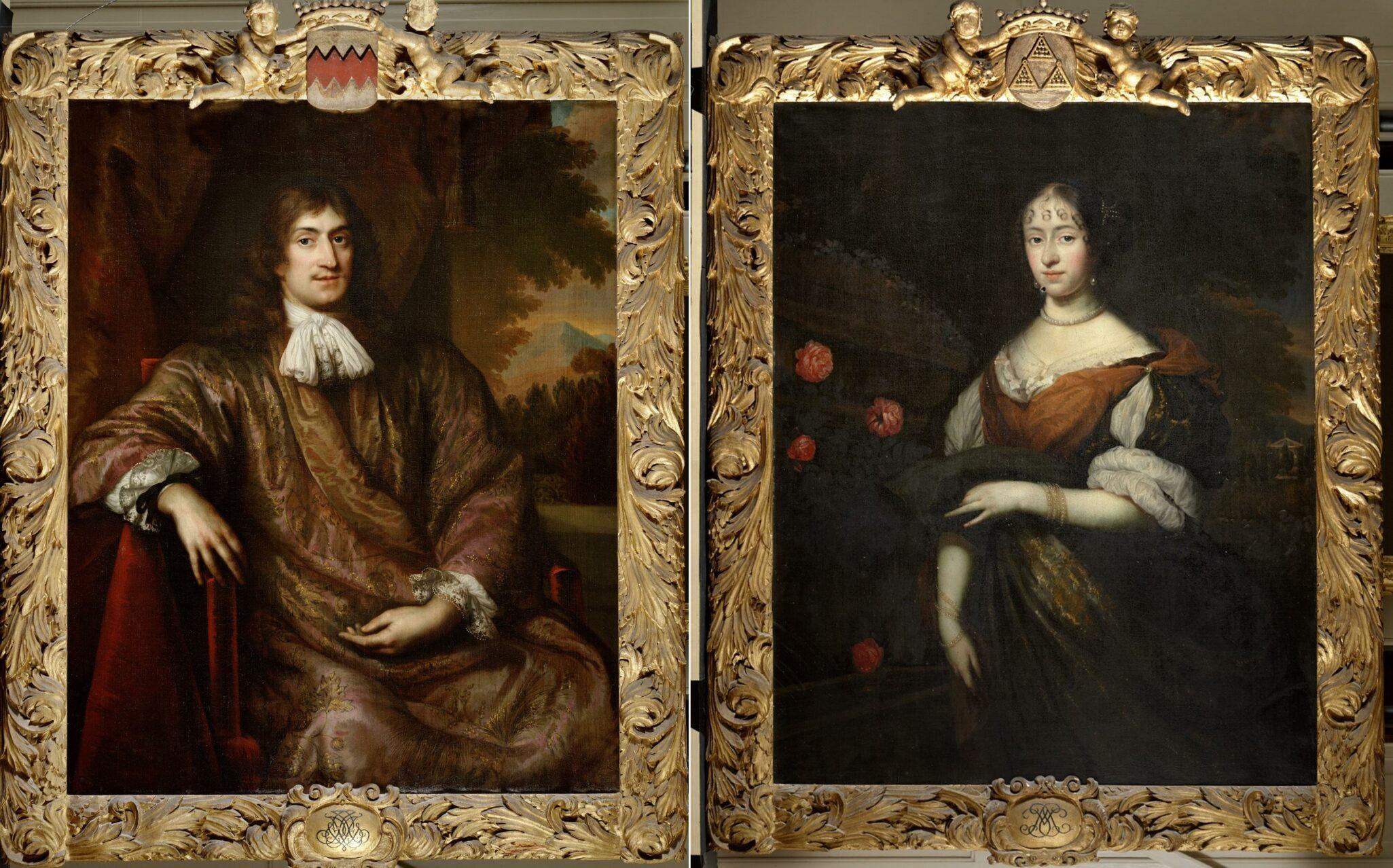Fig. 8. Jan de Baen (1633-1707), Portraits of Jacob Dircksz van Foreest and Maria Sweerts , 1672-73On loan from the Stichting Van Foreest en Van Egmond van de Nijenburg. (Photograhs taken before restoration.)