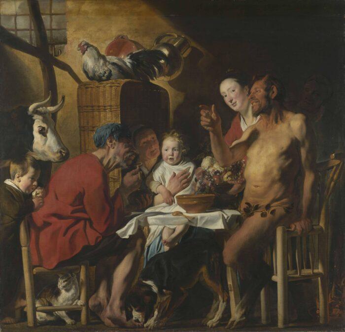 Jacob Jordaens (1593-1678), <em>Satyr with Peasants</em>, 1620-21<br>© Bayerische Staatsgemäldesammlungen, Alte Pinakothek, München