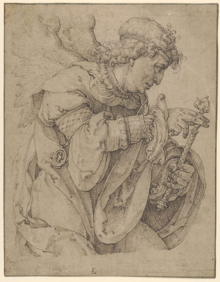 Lucas van Leyden (1494-1533), <em>The Archangel Gabriel announcing the birth of Christ </em>, ca. 1520<br>The Metropolitan Museum of Art, New York, promised Gift of Leon D. and Debra R. Black, and purchase, Lila Acheson Wallace Gift and 2007 Benefit Fund