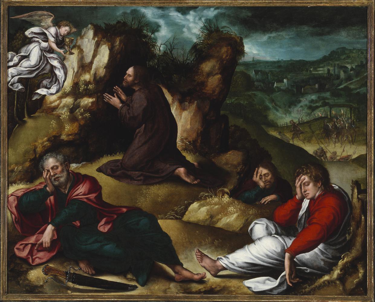 Fig. 1. Bernard van Orley (1490-1542), <em>Agony in the Garden</em><br>Szépművészeti Múzeum, Budapest