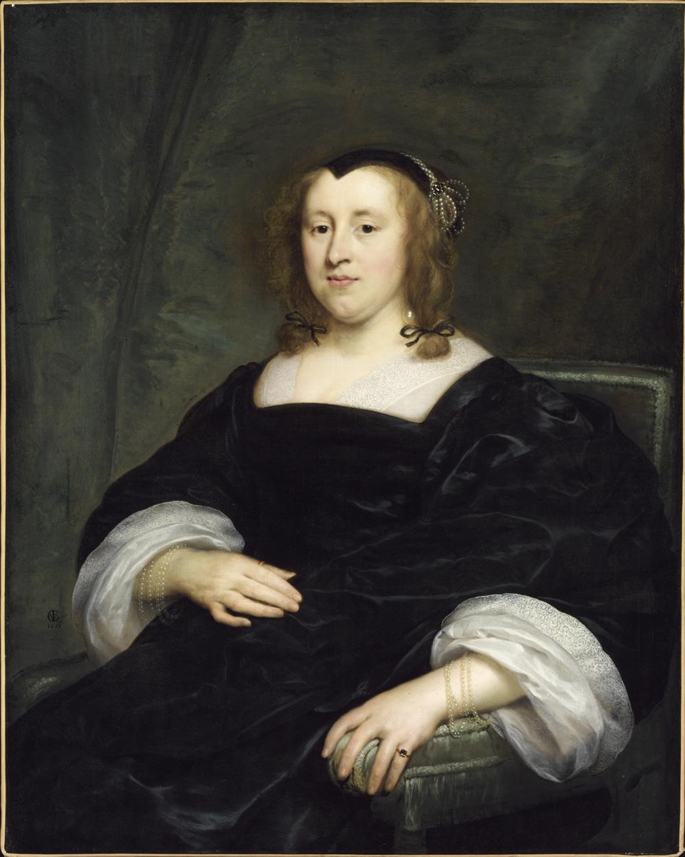 Fig. 6. Cornelis Jonson van Ceulen (1593-1661), <em>Portrait of a Woman</em>, 1651<br>Szépművészeti Múzeum, Budapest